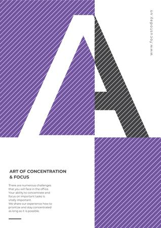 Art of Concentration on Purple and White Poster Modelo de Design