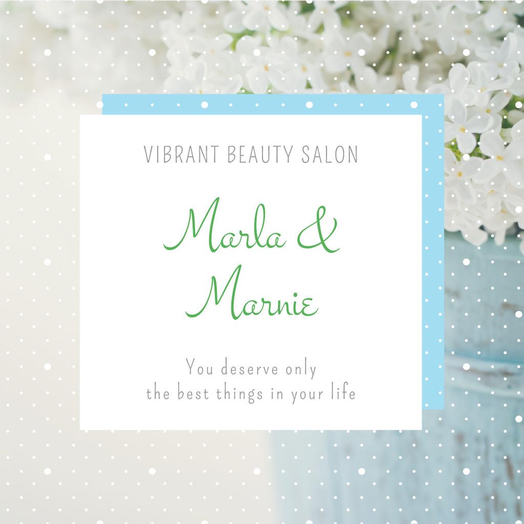 Beauty salon advertisement — Crear un diseño