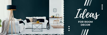 Room Decor Tips with Cozy Modern Interior Email headerデザインテンプレート