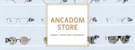 Plantilla de diseño de Glasses Store Opening Announcement Facebook cover