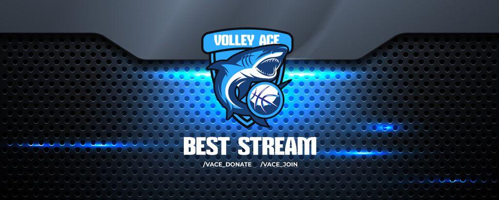 Volleyball Match announcement with Shark — Crea un design