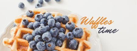 Recipe Ad with Tasty Waffle Facebook cover Tasarım Şablonu