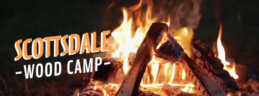Burning camp fire - Bir Tasarım Oluşturun
