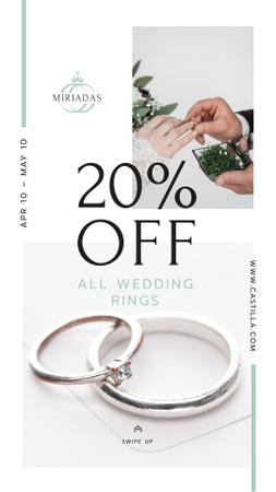 Wedding Offer Rings at Ceremony Instagram Story Modelo de Design