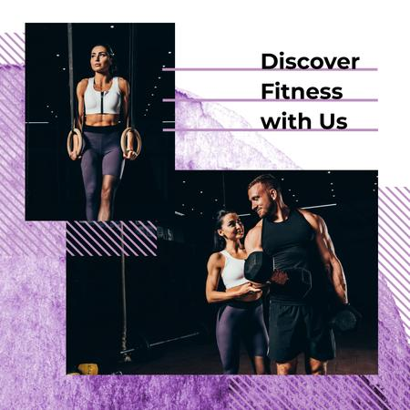 Couple training together Instagram Design Template