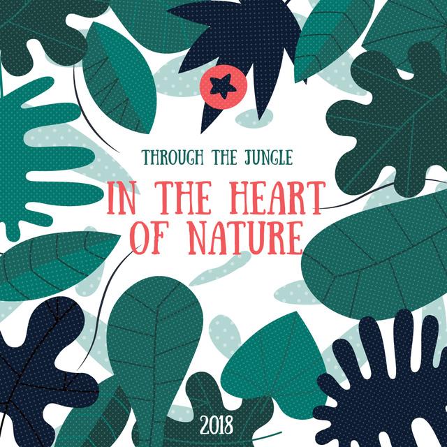 Jungle nature Illustration Instagram Design Template