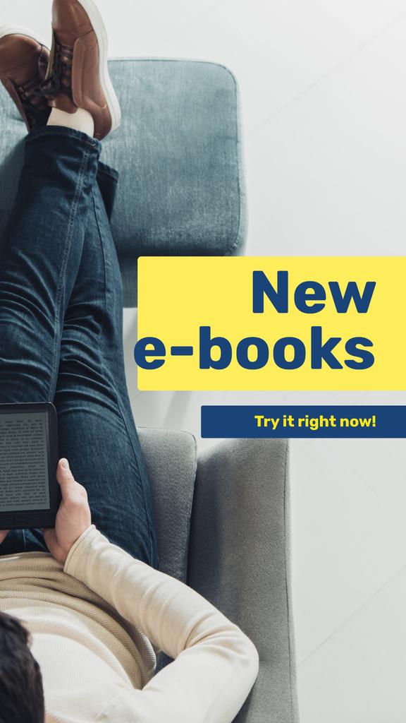 E-readers Offer Man Reading Book —デザインを作成する