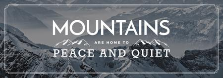 Journey Offer Mountains Icon in White Tumblr Modelo de Design