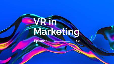 VR technology in marketing Youtube Thumbnail Modelo de Design