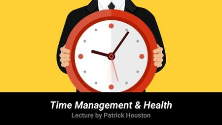 Template di design Time Management Lecture Man Holding Clock Full HD video