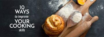 Cooking Tips Bun on Wooden Board with Flour | Tumblr Banner Template
