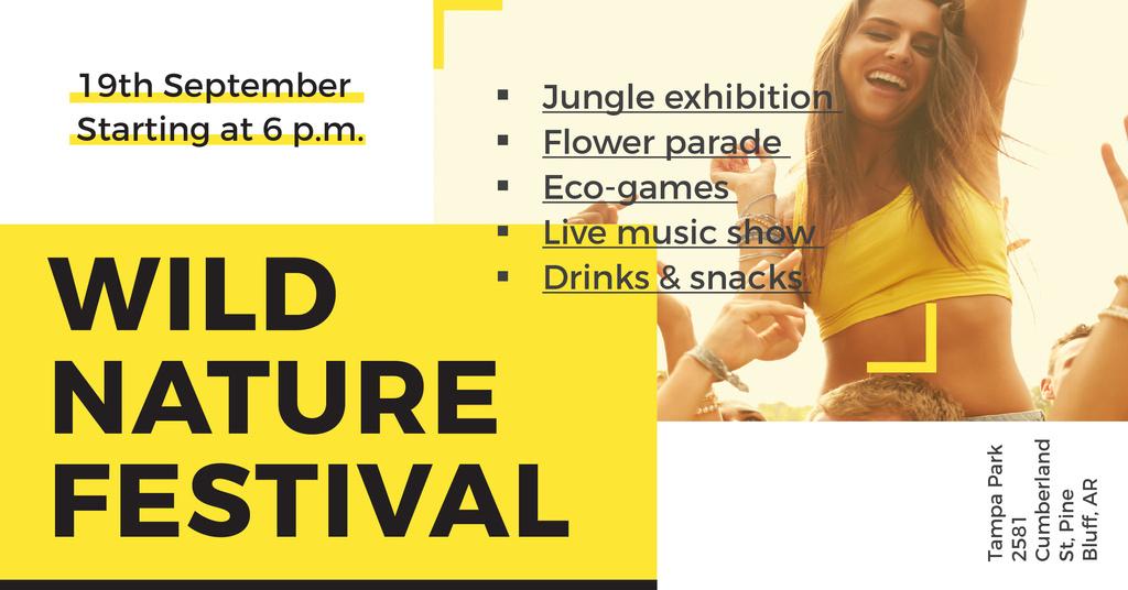 Wild nature festival — Crear un diseño