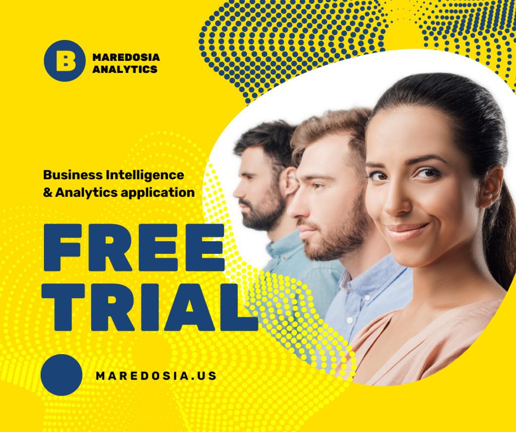 Business Services Offer Successful Business Team — Maak een ontwerp