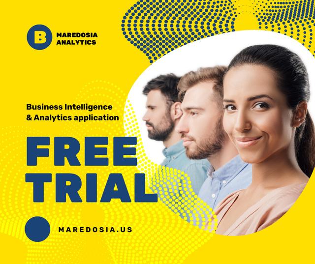 Modèle de visuel Business Services Offer Successful Business Team - Facebook