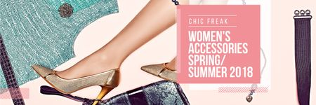 Female accessories collection Twitter – шаблон для дизайна