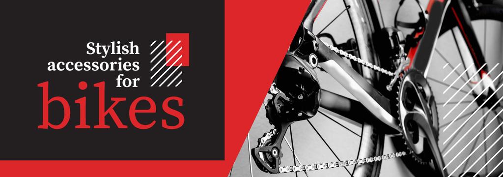 Bike Shop Ad Modern Shiny Bicycle | Tumblr Banner Template — Создать дизайн