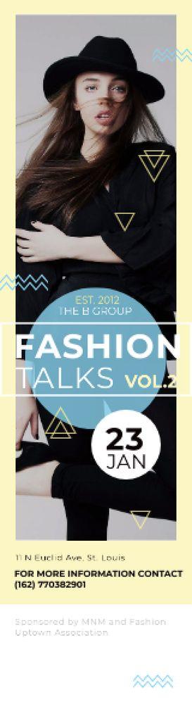 Fashion talks poster — Créer un visuel