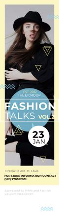 Fashion talks poster Skyscraper Modelo de Design