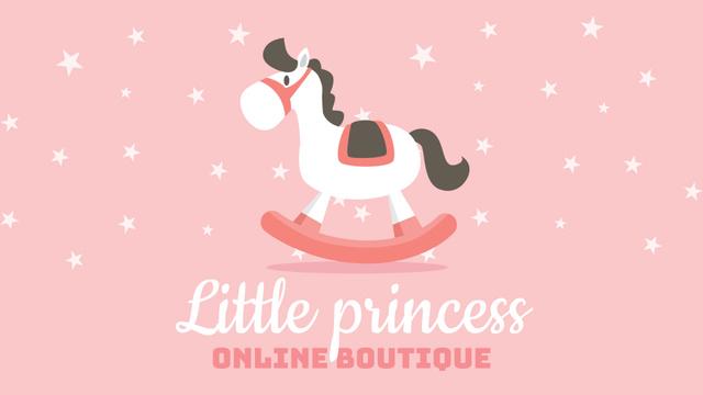 Modèle de visuel Kids Goods Store Offer Rocking Horse Toy - Full HD video