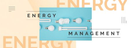 Different kinds of light bulbs Facebook cover – шаблон для дизайна