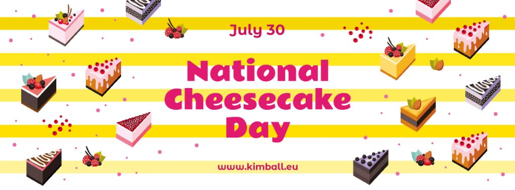 National cheesecake day — Créer un visuel