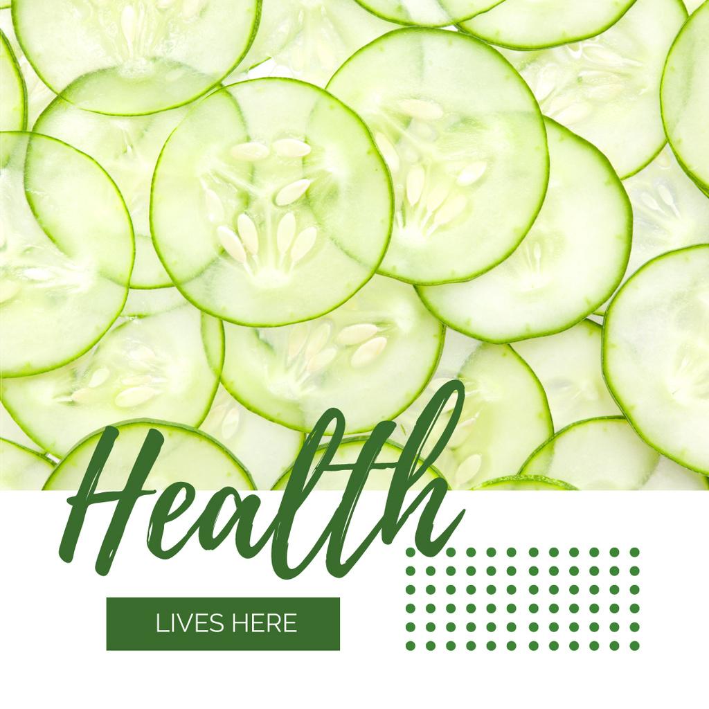 Healthy Food Sliced Green Cucumbers — Crear un diseño