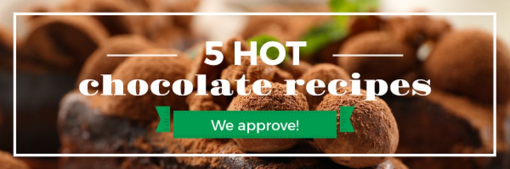 hot chocolate recipes banner — Crear un diseño