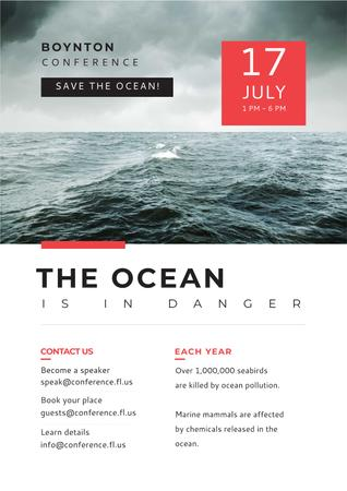 Boynton conference the ocean is in danger Poster Modelo de Design