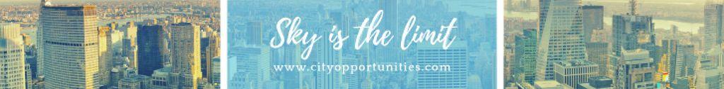 Template di design Real Estate Advertisement City Skyscrapers Leaderboard