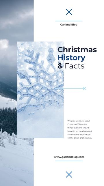 Template di design Snowflake and mountains view on Christmas Instagram Story