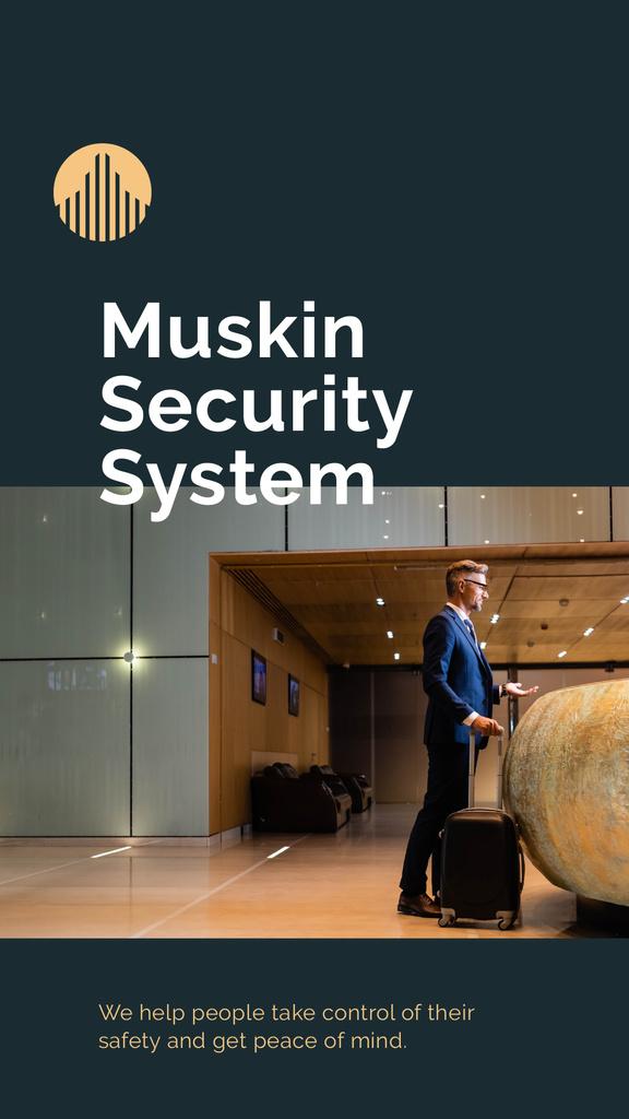 Designvorlage Security System services promotion für Mobile Presentation