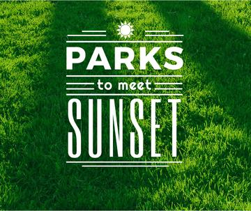 Parks to meet sunset poster
