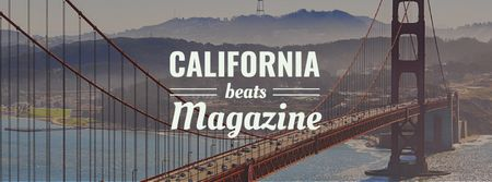 Ontwerpsjabloon van Facebook cover van California Golden Gate view