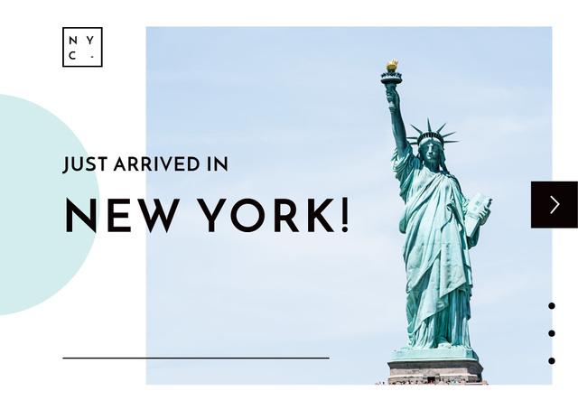 Liberty Statue in New York Postcard Modelo de Design