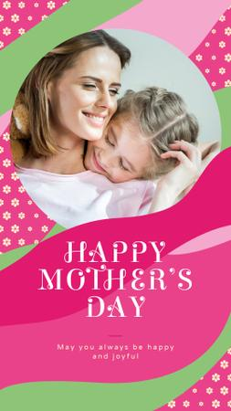 Template di design Happy mother with her daughter on Mother's Day Instagram Story