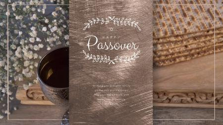 Happy Passover Table with Unleavened Bread Full HD video Modelo de Design