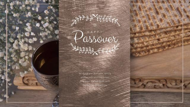 Modèle de visuel Happy Passover Table with Unleavened Bread - Full HD video