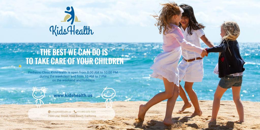Modèle de visuel Kids clinic advertisement - Twitter