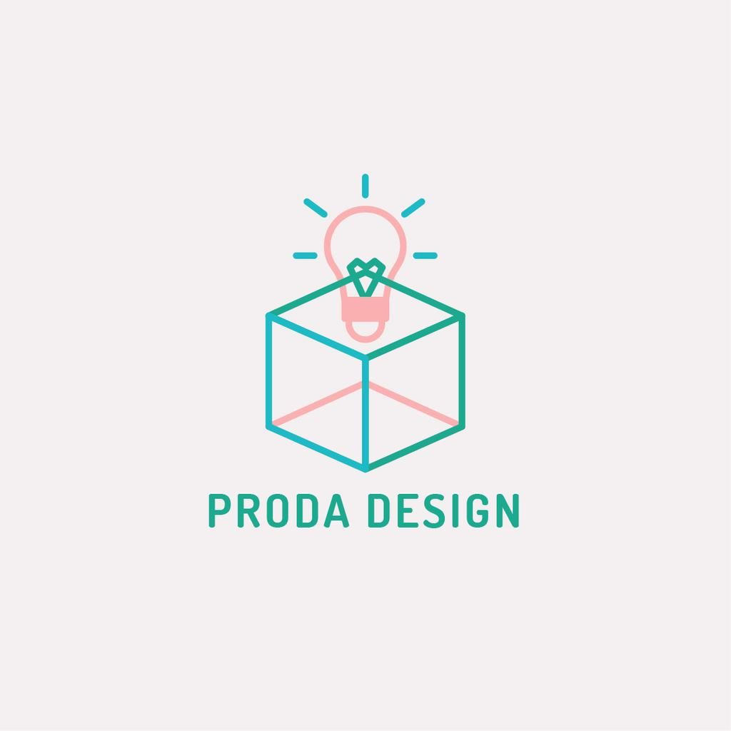 Design Studio Ad Bulb in Box — ein Design erstellen