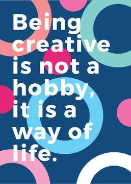 Creativity Quote on Colorful circles pattern