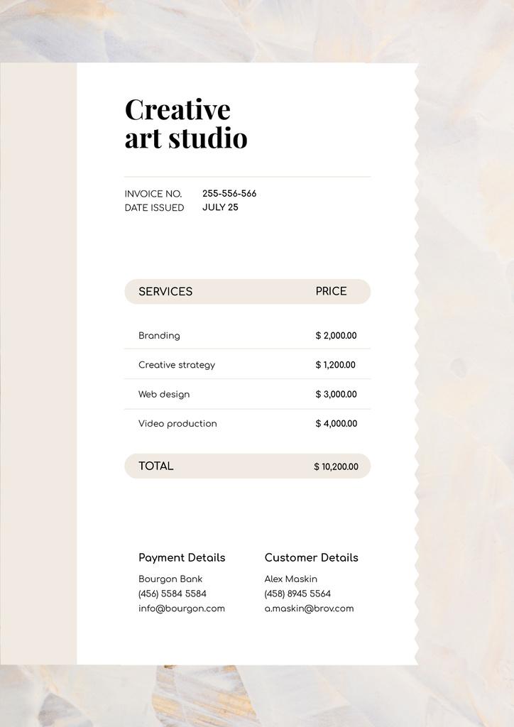 Creative Art Studio Services — Crear un diseño
