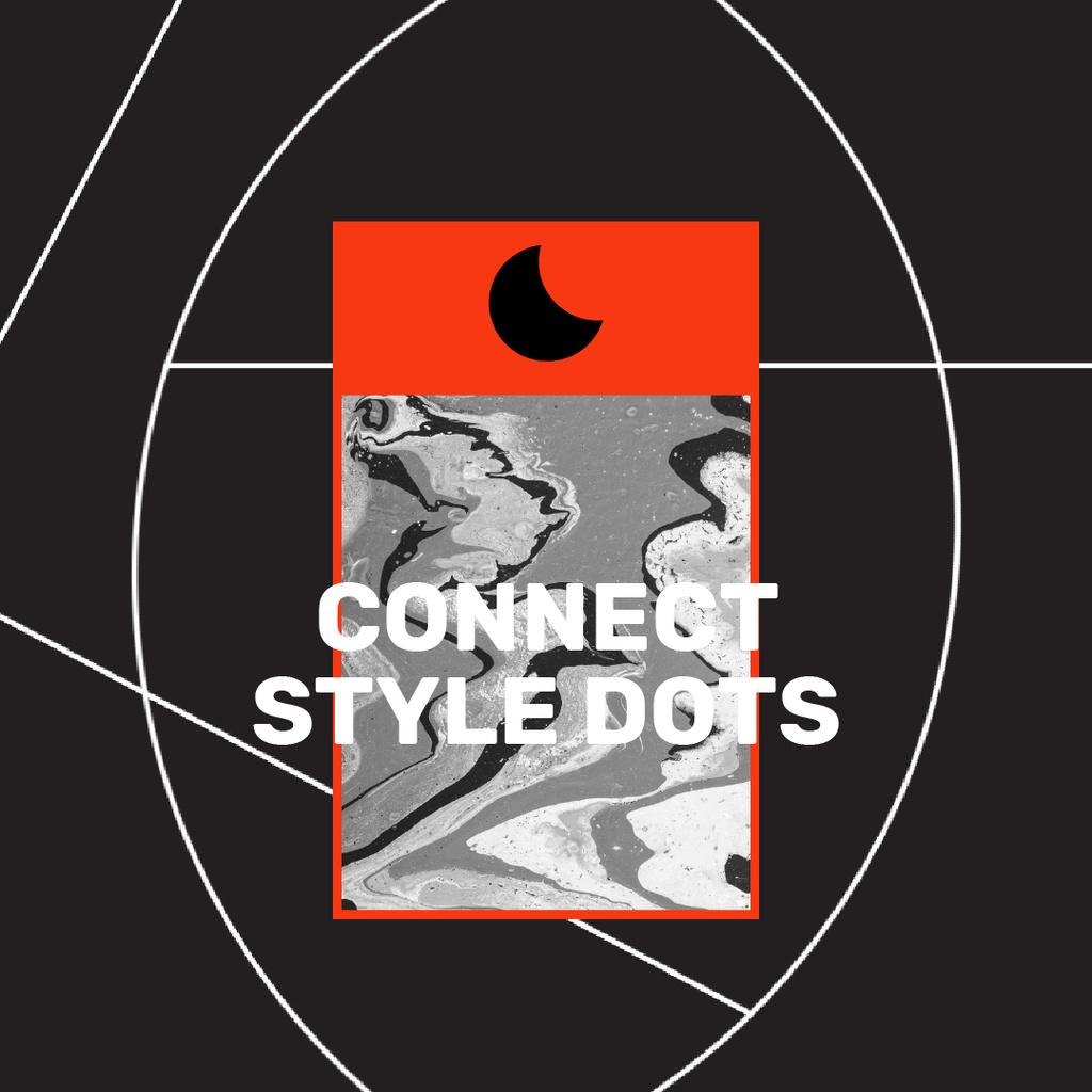 Creative Style Inspiration on black background — Создать дизайн