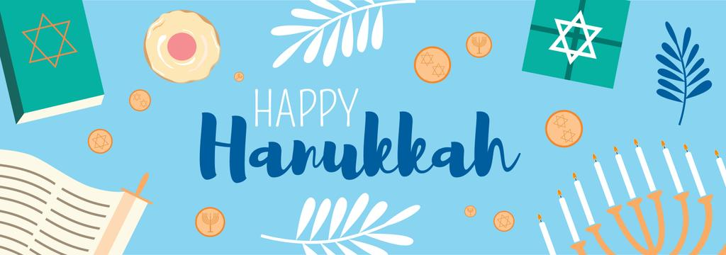 Happy Hanukkah greeting card  - Bir Tasarım Oluşturun
