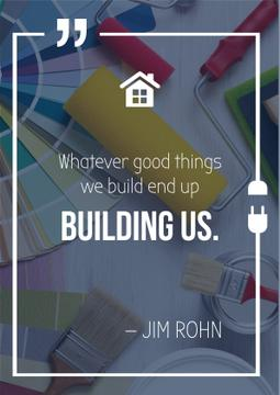 Building inspirational quote poster
