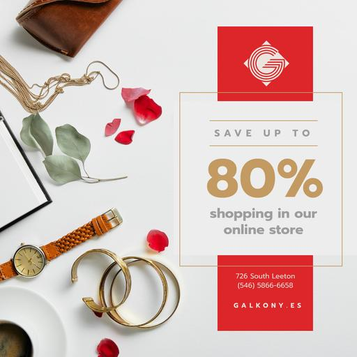 Accessories Sale Fashion Look Composition InstagramPost