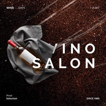 Bottle of Wine on Ribbon