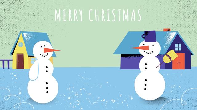 Modèle de visuel Two funny snowmen - Full HD video