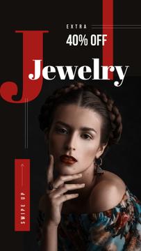 Jewelry Sale Young stylish woman