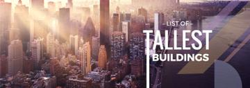 Modern City Tallest Buildings View | Tumblr Banner Template