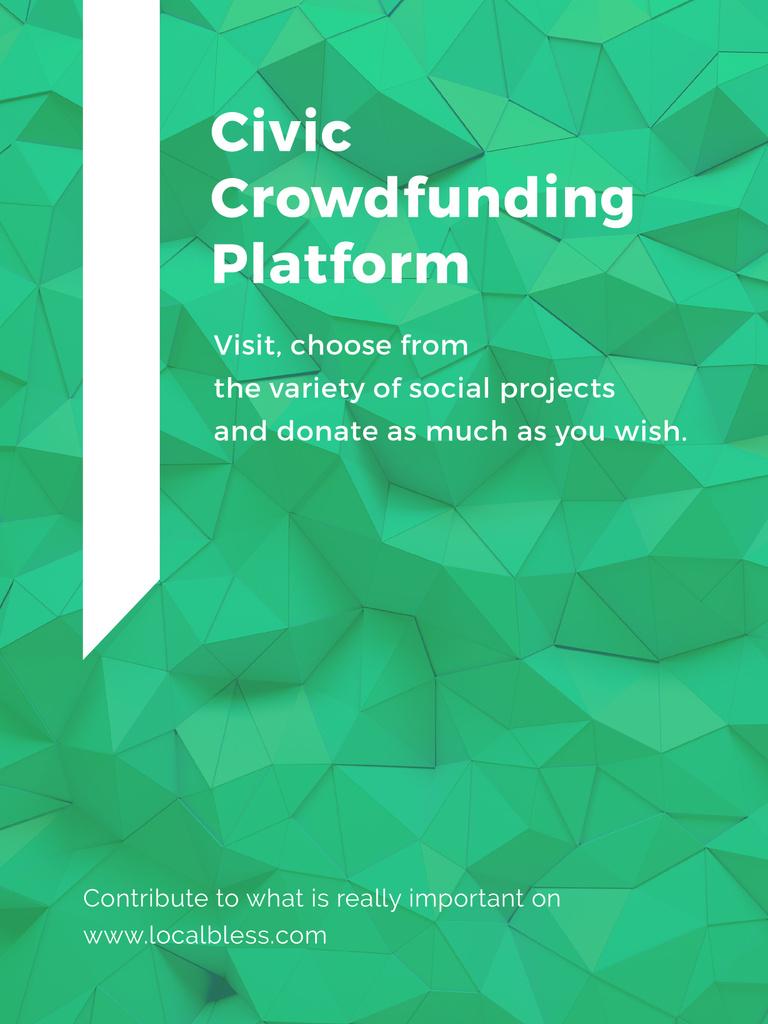 Crowdfunding Platform ad on Stone pattern — Create a Design